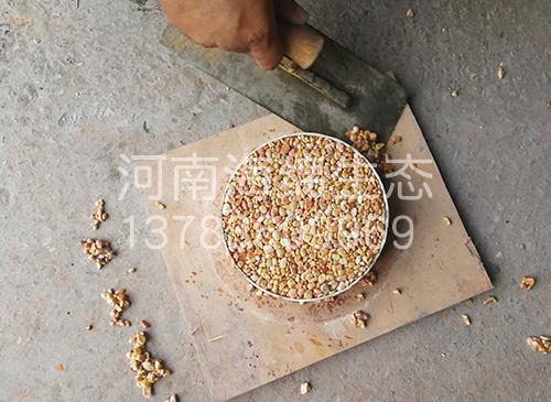 胶粘石样板制作
