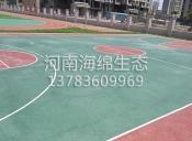 彩色透水混凝土篮球场