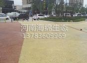 彩色透水混凝土中心广场